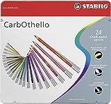 Pastellkreidestift - STABILO CarbOthello - 24er Metalletui - mit 24 verschiedenen Farben