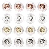ピアスキャッチ K18GP(18金) 6ペア(12個) ピアスキャッチャー シルバー925 2ペア(4個) ダブルロックキャッチ