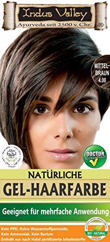 IndoNatura Indus Valley Gel-Haarfarbe Mittelbraun (90% natürlich)