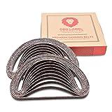 Red Label Abrasives 1/2 X 18 Inch 36 Grit Aluminum Oxide Air File Sanding Belts, 20 Pack
