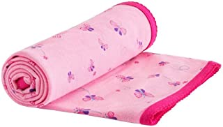 Under the Nile Organic Cotton Stroller Blanket, Choose Bella Butterfly or Twilight Plane Print (Bella Butterfly Print)
