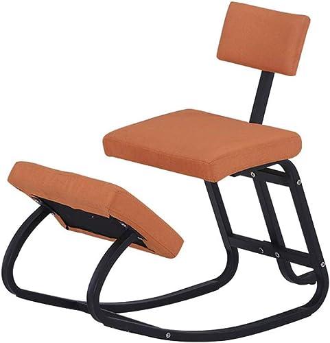 perfecto Lahshion Silla Silla Silla ergonómica de Equilibrio para arrodillarse, Taburete de Madera con posturas mecedoras para el hogar,naranja  garantía de crédito