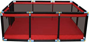 CXHMYC Large safety barrier for children  children s center  indoor and outdoor activity area Breathable  non-crawling  wide crawling playground  190x128x66cm