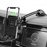 Wireless Car Charger, MOKPR 15W Fast Charging Car Mount Auto-Clamping Car Charger, Dashboard Windshield Phone Holder Compatible with iPhone 13/13 Pro/12 pro/12/11/X/8, Samsung S10/S9/S8/Note10/Note9