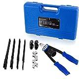 Remachadora de tijeras 6 mm 6,4 mm 4 mm incluye 150 remaches Bituxx/® 3,2 mm 4,8 mm