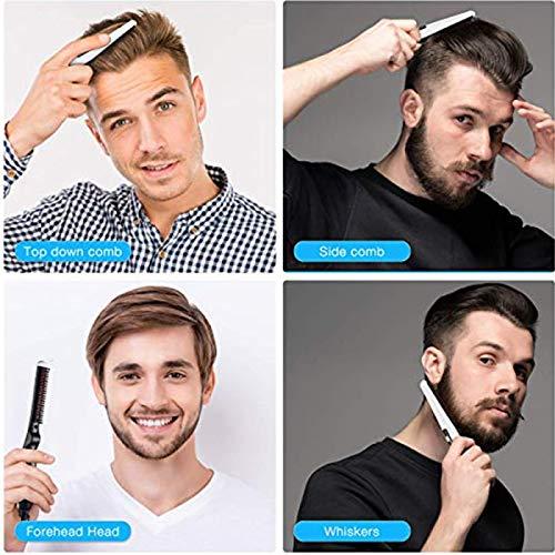 Quick Electric Beard Straightener Comb, Multifunctional Hair Curler Straightening Permed Clip Comb Styler Hair Tool Men's Beard Straightener Heated Brush