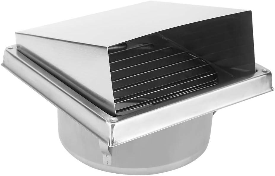 Acouto Ventilador De Escape Montado En La Pared, Extractor De Salida De Aire Cuadrado De Ventilación De Pared De Acero Inoxidable para El Hogar para Baño Cocina