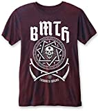 Bring Me The Horizon 'Crooked Young (Navy/Red)' Burnout T-Shirt (medium)