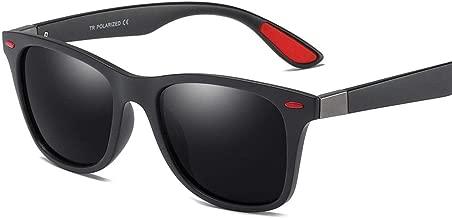 LUKEEXIN Sunglasses Stylish Full Frame Men's Polarized Sunglasses Durable TR90 UV400 Protection Eyewear Driving Cycling Running Fishing Golf