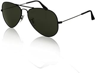 SWG Aviator Sunglasses - Matte Black / Smokey Lens Sport Edition Slim Fit 54mm