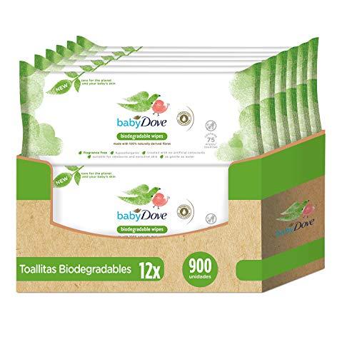 Baby Dove Toallitas Húmedas Biodegradables 75uds - Pack de 12