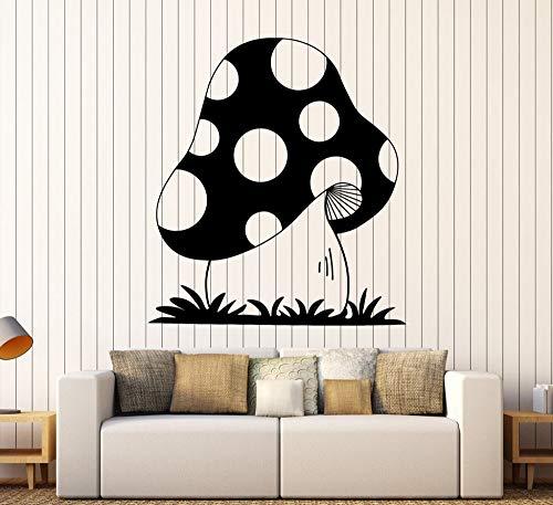 57 * hasta los 66cm Big Mushroom Cartoon pegatinas de pared Home Decor Living Forest Nursery Wall Decals Vinyl Baby Kids Room Art Decoracion
