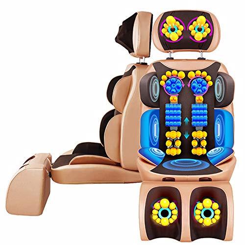 Massagesitzauflage Rückenmassagegerät mit Wärmefunktion Rückenmassage Shiatsu Massage Sitzkissen,Elektrisch Massageauflage Massagematte Sitzheizung mit Vibration Nacken Taille Hüfte Bein,Büro Haus