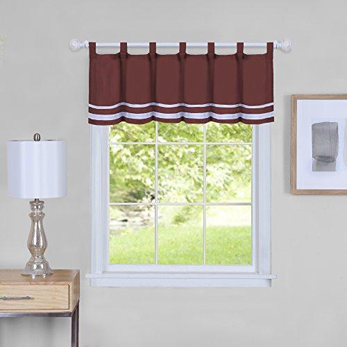 "Achim Home Furnishings Achim Home Imports Dakota Window Curtain Valance, 58"" x 14"", Burgundy"