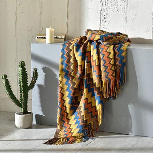 MAOTAN Kleurrijke Zigzag Deken Sofa Knit Gooi Deken Kassen Reizen Draagbare Thuis Bank Stoel Bed Decoratie Office Nap