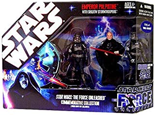 Star Wars Saga 2008 The Force Unleashed Exclusive Commemorative Collection Emperor Palpatine with Shadow Stormtroopers