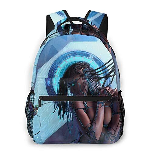 NiYoung Boys Grils Rucksack Back to School Gift - Spooky Girl Art Carry On Bag School Shoulder Book Bags Travel and Sport Backpack Rucksack, Casual Daypack Laptop Backpack