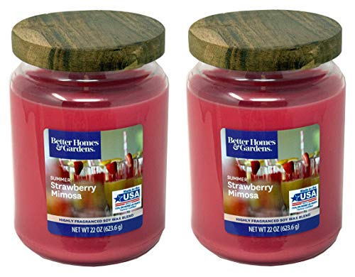 Better Homes Gardens 22oz Scented Candle, Summer Strawberry Mimosa 2-Pack