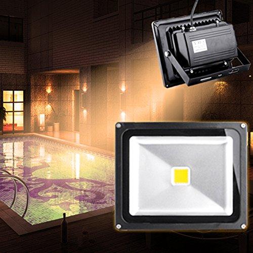 10W/20W/30W/50W/100W/200W warmweiß mit schwarz Aluminium Gehäuse IP65 wasserdicht LED Lampe Squre Wandleuchter Fluter Flutbeleuchtung Flutlicht Scheinwerfer Außenstahler Leuchtmittel Energiesparend (30 Watt)