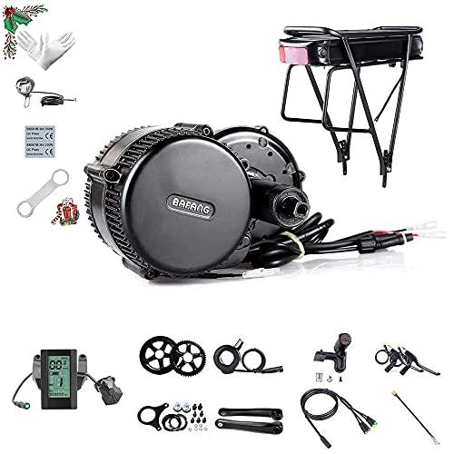 Bafang BBS01B 36V 350W Kit Mid Drive Juego de conversión de Bicicleta eléctrica Kit de Motor Central de Ebike sin o con Batería de Cuadro 10/15.6/19.2/21/22.5Ah Batería Trasera 20/22.5Ah