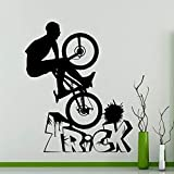Bicicleta BMX Fancy Tricks bicicleta vinilo pared pegatina hogar cocina restaurante sala de hornear restaurante