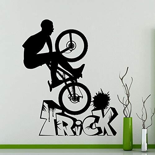 JXWH Fiets BMX fantasie tips muursticker fiets garage decoratie vinyl wandtattoos Home Boy kamerdecoratie waterdicht behang