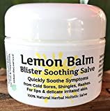 Urban ReLeaf Lemon Balm Cold Sore & Shingles Salve! 1 Oz Quickly Soothe Blisters, Rashes, Bumps, Bug Bites, Chicken Pox. Suppress Future outbreaks. 100% Natural 'Goodbye, Itchy red Bumps!'