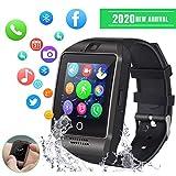 💎【Compatible con Android e iOS (Funciones parciales)】 Conectando el teléfono y el reloj por bluetooth, el reloj inteligente sincronizará la llamada y enviará / recibirá SMS. Este reloj inteligente bluetooth puede coincidir con la mayoría de los teléf...