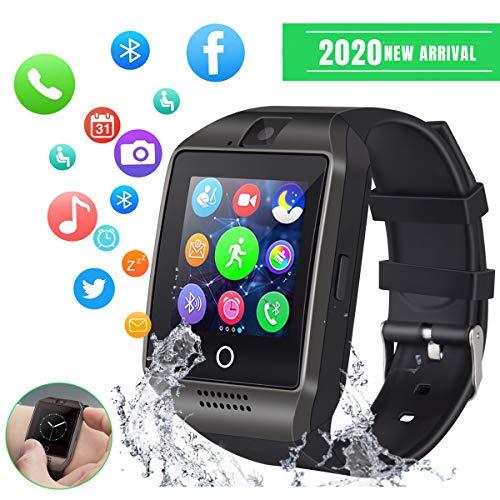 Smart Watch Sport SmartWatch Bluetooth Smart Watch per Android iOS Cellulare Watch con slot per schede SIM TF Fitness Tracker Smart Watch con fotocamera, monitor del sonno, frequenza cardiaca