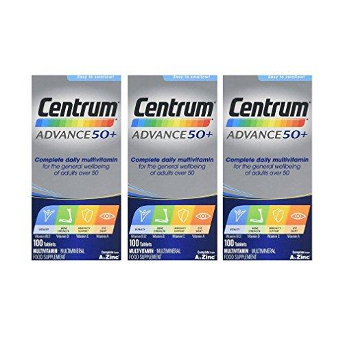 3 x Centrum Advance 50+ 100 Tablets