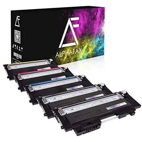 5 Toner kompatibel für Samsung Xpress C430W/TEG C480W/TEG Farblaserdrucker - CLT-P404C/ELS - Schwarz je 1500 Seiten, Color je 1000 Seiten