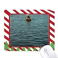 フィッシャーマン湖 ゴムクリスマスキャンディマウスパッド
