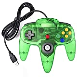 miadore N64 - Controlador clásico con Cable, Retro N 64 N64 USB Controladores PC Gamepad Joystick para Windows PC Mac Raspberry Pie (Verde Claro)
