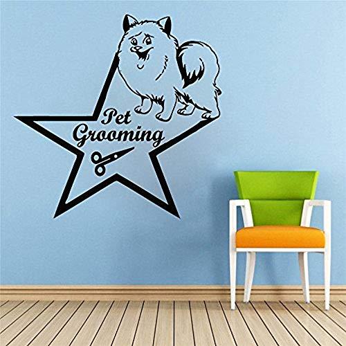 stickers muraux animaux de la savane Stickers muraux Citation Pet Grooming Decal Chien Ciseaux Star Vinyle Autocollant Pet-Shop Grooming Salon Décor À La Maison Art Mural