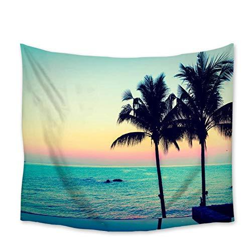 Zzdhewyz Tapiz de Playa Paisaje Palmera mar Tapiz tapices para Colgar en la Pared Colcha decoración artística Manta Toalla 150x100 cm