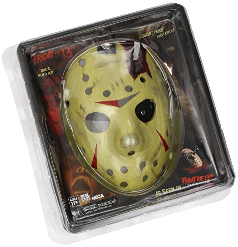 Neca Freitag der 13. Jason Prop Replika Maske (Battle Damage) Detailgetreue Replik der Originalmaske von Jason Vorhees