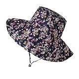 puseky Kinder Blumen Sonnenhut Breite Krempe Eimer Hüte Sommer bis 50+ Sonnenschutzkappe für 3-8 Jahre Mädchen
