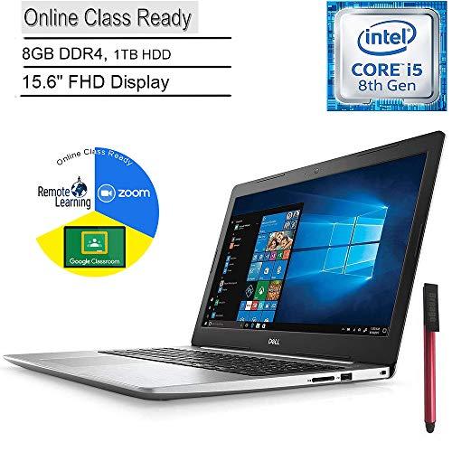 Dell Inspiron 15 5000 Laptop Computer_ 15.6' FHD_ Intel Quad-Core i5-8250U Up to 3.4GHz (Beats i7-7500U)_ 8GB DDR4_ 1TB HDD_ Online Class Ready_ Windows 10_ BROAGE 64GB Flash Drive