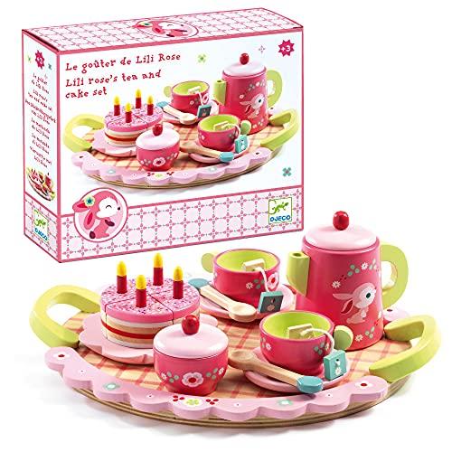 木のおもちゃ おままごと リリローズ ティーパーティー DJ06639 対象年齢4歳から