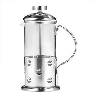 Cafetera de prensa francesa de 12/20/27oz, cafetera de vidrio de acero inoxidable, cafetera de té para acampar en la oficina de la mañana(12oz/350ml)