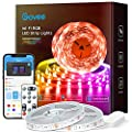65.6ft Alexa LED Strip Lights, Govee Smart WiFi RGB Rope Light Works with Alexa Google Assistant, Remote App Control Lighting Kit, Music Sync Color Changing Lights for Bedroom, Living Room, Kitchen