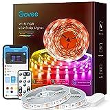 Govee 65.6ft Alexa LED Strip Lights, Smart WiFi RGB Rope Light Works with Alexa Google...