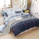 Ropa de cama de 135 x 200 cm, 100% microfibra muy suave y agradable, aloe vera, funda nórdica de 135 x 200 cm con cremallera, 2 fundas de almohada de 80 x 80 cm, transpirable, 10 años de garantía