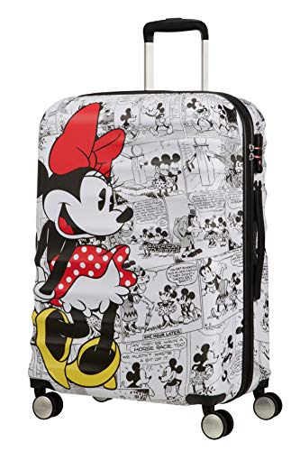 American Tourister Disney Wavebreaker - Maleta Infantil, Spinner M (67 cm - 64 L), Multicolor (Minnie Comics White)