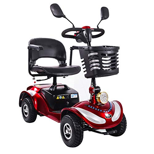 ZZUU Scooter Electrico Moto para Personas Mayores Vehículo De Movilidad/Plegable/Batería De Litio...
