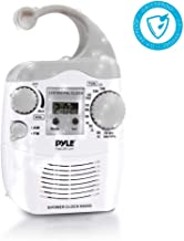 Hanging Waterproof Shower Clock Radio – Wireless Mini Portable Waterproof Battery..