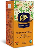 Care Ashwagandha Spiced Green Tea for Weight Loss & Build Immunity | Detox Desi Kahwa Green Tea with Herbs Like...