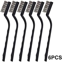 12Pcs Wire Brush Kit Small Copper Wire Brushes Tool Industrial Brass Nylon Cleaning Brushes Rust Remover (Color : 6pcs)