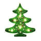 Lulalula Diamantmalerei-Set mit LED-Nachtlicht Weihnachten 5D DIY Diamant Gemälde Full Drill Kristall Strass Nachtlampe Kunst Basteln für Weihnachtsbaum Home Wand Dekoration, å¡'æ–TM, grün, M