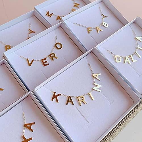 SONGK Collar con Colgante de Letra AZ Inicial, Collar con Nombre para Mujer, Cadena, Collares Personalizados,RegaloPersonalizado
